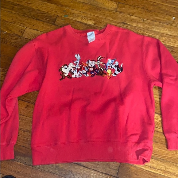 Warner Bros Looney Tunes sweatshirt S vintage red